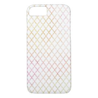 Coque iPhone 8/7 Cas moderne de l'iPhone 6 de Quatrefoil de couleur