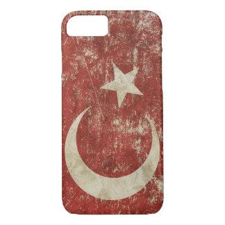 Coque iPhone 8/7 Cas patriotique avec le drapeau de la Turquie