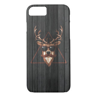 Coque iPhone 8/7 Cerfs communs de moustache de hippie - édition