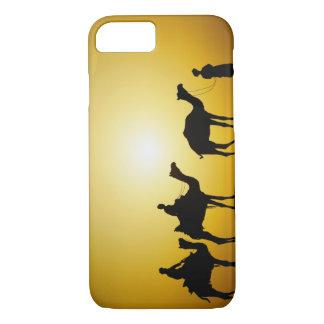 Coque iPhone 8/7 Chameaux et conducteur de chameau silhouetté au