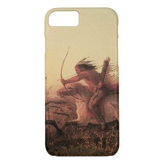 Coque iPhone 8/7 Chasse vintage de Buffalo occidental et indien par