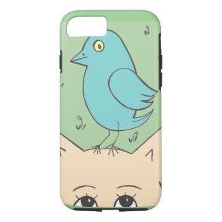 Coque iPhone 8/7 Chat et oiseau mignons