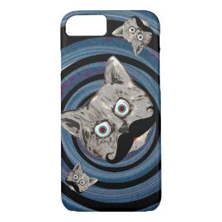 Coque iPhone 8/7 chat fou dans une spirale