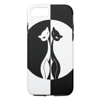 Coque iPhone 8/7 Chats noirs et blancs
