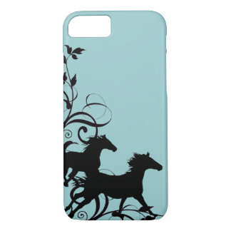 Coque iPhone 8/7 Chevaux sauvages noirs
