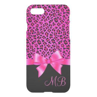 Coque iPhone 8/7 Chic élégant Girly d'empreinte de léopard rose et