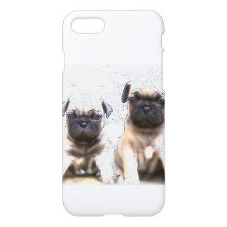 Coque iPhone 8/7 Chiots de carlin