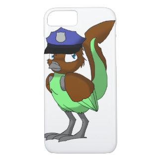 Coque iPhone 8/7 Chocolat de policier/oiseau reptile de menthe
