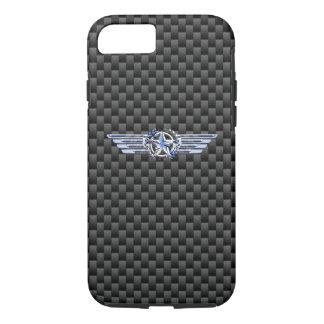 Coque iPhone 8/7 Chrome privé général de pilote d'air comme des