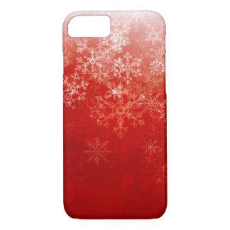 Coque iPhone 8/7 Chutes de neige de rouge de Noël