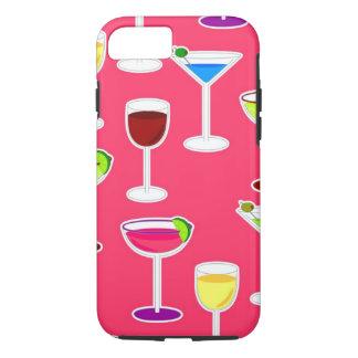 Coque iPhone 8/7 Cocktail de boissons alcoolisées - rose