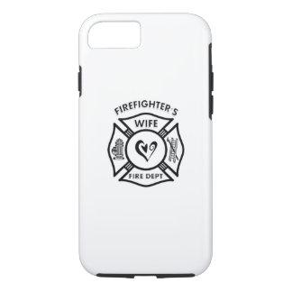 Coque iPhone 8/7 Coeur d'épouse de sapeurs-pompiers