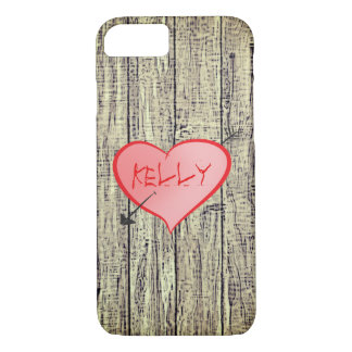 Coque iPhone 8/7 Coeur romantique rouillé d'amour de barrière en