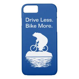 """Coque iPhone 8/7 Commande d'ours blanc """"moins. Faites du vélo"""