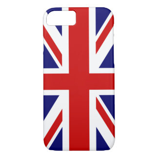 Coque iPhone 8/7 Conception britannique de l'affaire | Union Jack