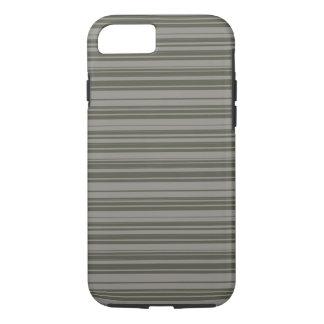 Coque iPhone 8/7 Conception grise de rayures de vecteur