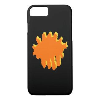 Coque iPhone 8/7 conception jaune et orange
