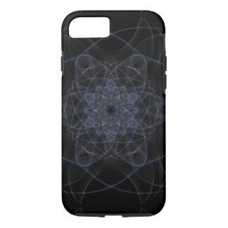 Coque iPhone 8/7 Conception noire de kaléidoscope