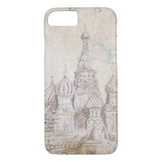 Coque iPhone 8/7 Conception vintage d'affranchissement de Moscou