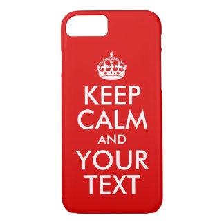 Coque iPhone 8/7 Concevez-vous que propres gardent le calme et