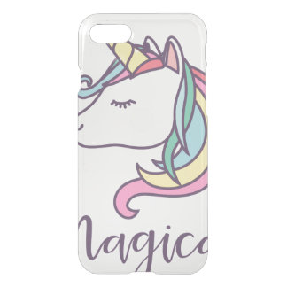 Coque iPhone 8/7 cool de graphique de conception de licorne beau