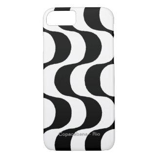 Coque iPhone 8/7 copacabana noir et blanc, RJ