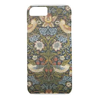 Coque iPhone 8/7 Copie vintage de tapisserie d'oiseau