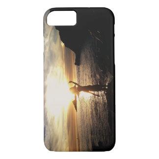 Coque iPhone 8/7 Coucher du soleil de plage de Malibu