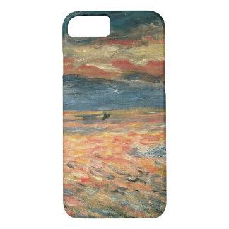 Coque iPhone 8/7 Coucher du soleil en mer par Pierre Renoir,