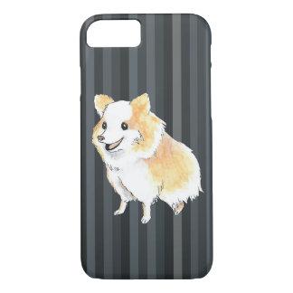 Coque iPhone 8/7 Couleur pour aquarelle se reposante de Pomeranian