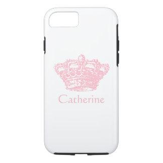 Coque iPhone 8/7 Couronne rose - personnalisez-la