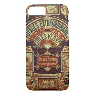 Coque iPhone 8/7 Couverture de vieux livre de Jules Verne