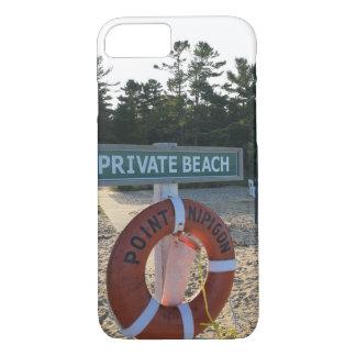 Coque iPhone 8/7 Couverture privée d'iPhone de plage de Nipigon
