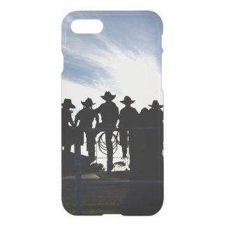 Coque iPhone 8/7 Cowboys et cow-girls occidentaux de silhouette sur