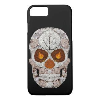 Coque iPhone 8/7 Crâne 11 de feuille d'Aspen