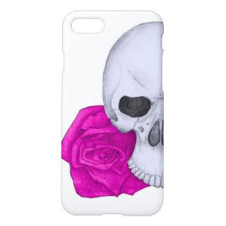 Coque iPhone 8/7 Crâne et roses roses