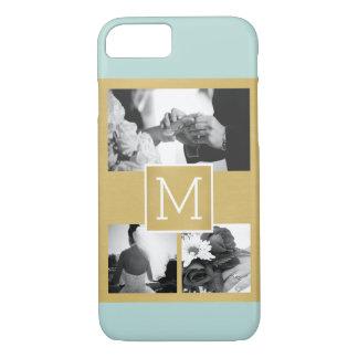 Coque iPhone 8/7 Créez votre propre monogramme de collage de photo