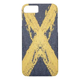 Coque iPhone 8/7 Croix jaune peinte