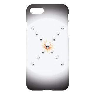 Coque iPhone 8/7 Croix orange mystérieuse de rayon de soleil de