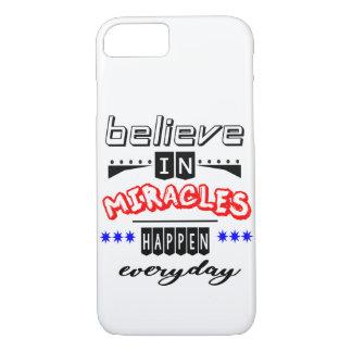 Coque iPhone 8/7 croyez aux miracles