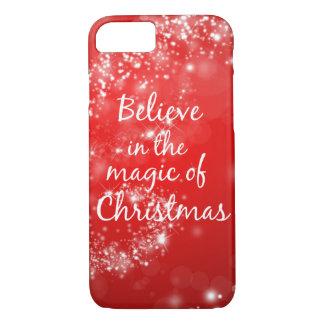 Coque iPhone 8/7 Croyez en magie de Noël