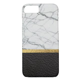 Coque iPhone 8/7 cuir et marbre