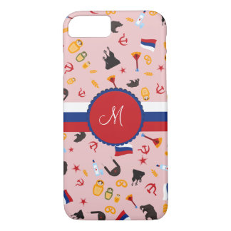 Coque iPhone 8/7 De Russie avec le monogramme de Russe d'amour