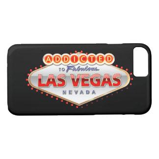 Coque iPhone 8/7 Dépendant signe drôle à Las Vegas, Nevada