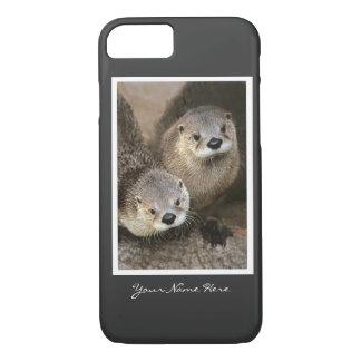 Coque iPhone 8/7 Deux loutres de rivière