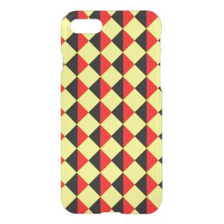 Coque iPhone 8/7 Diamants rouges et jaunes noirs