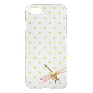 Coque iPhone 8/7 Drangonfly et pois vert