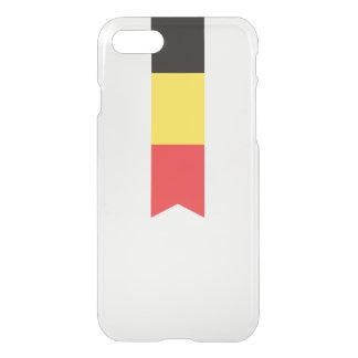Coque iPhone 8/7 Drapeau abstrait de la Belgique, cas belge de