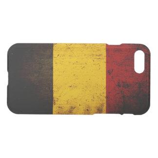 Coque iPhone 8/7 Drapeau grunge noir de la Belgique