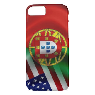 Coque iPhone 8/7 Drapeau Iphone de Portugal/USA